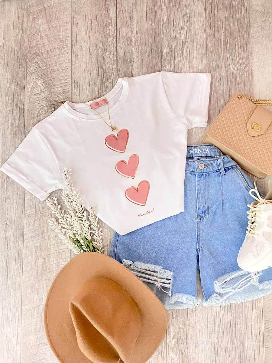 Camiseta Corazon Blanca