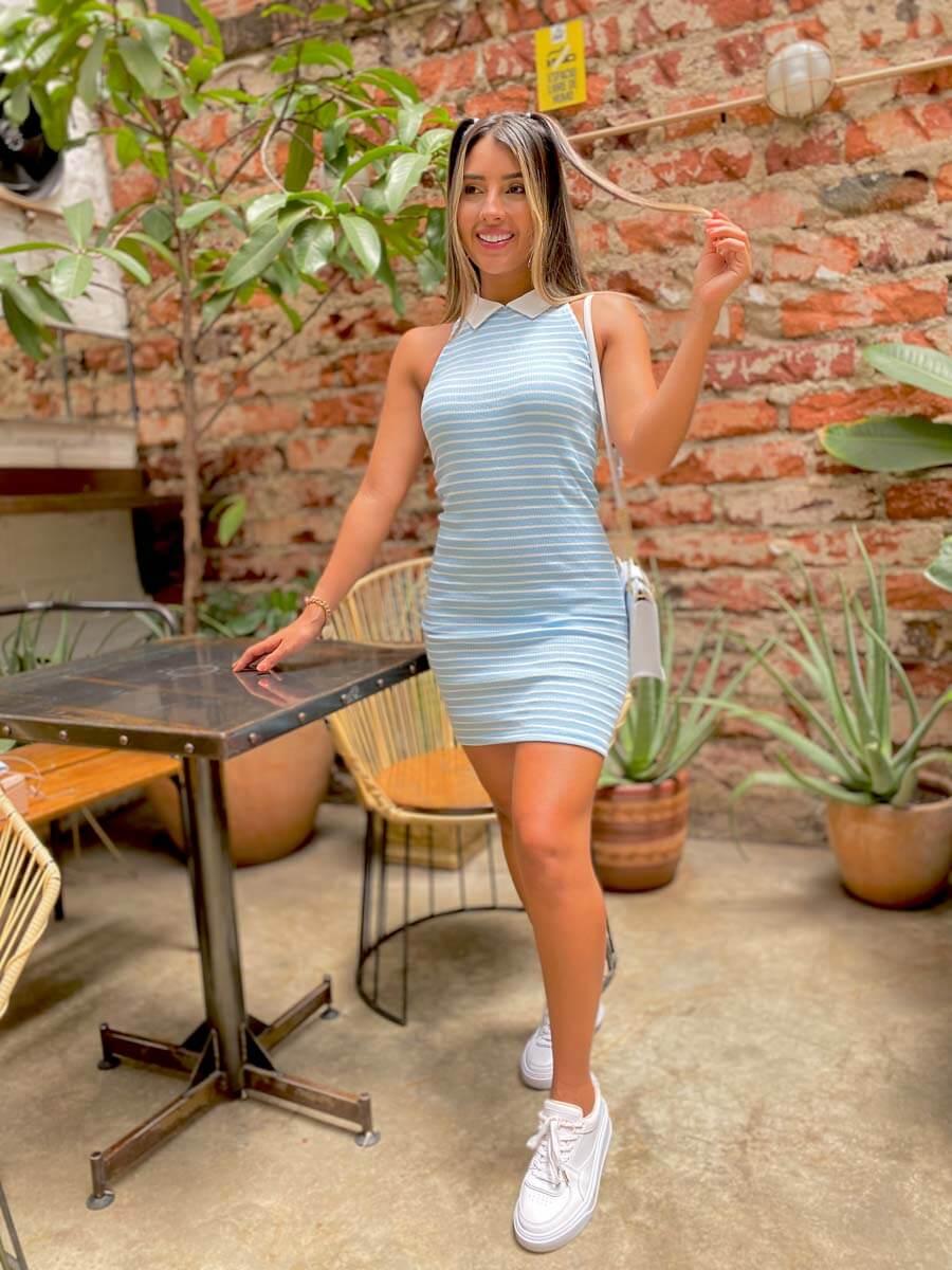 Vestido Deportivo Celeste