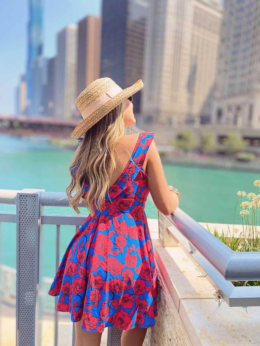 Vestido Mar Rojo Azul