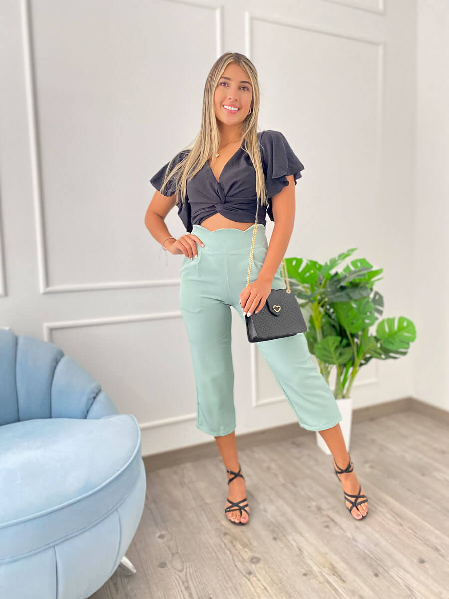 Pantalon Morgan verde