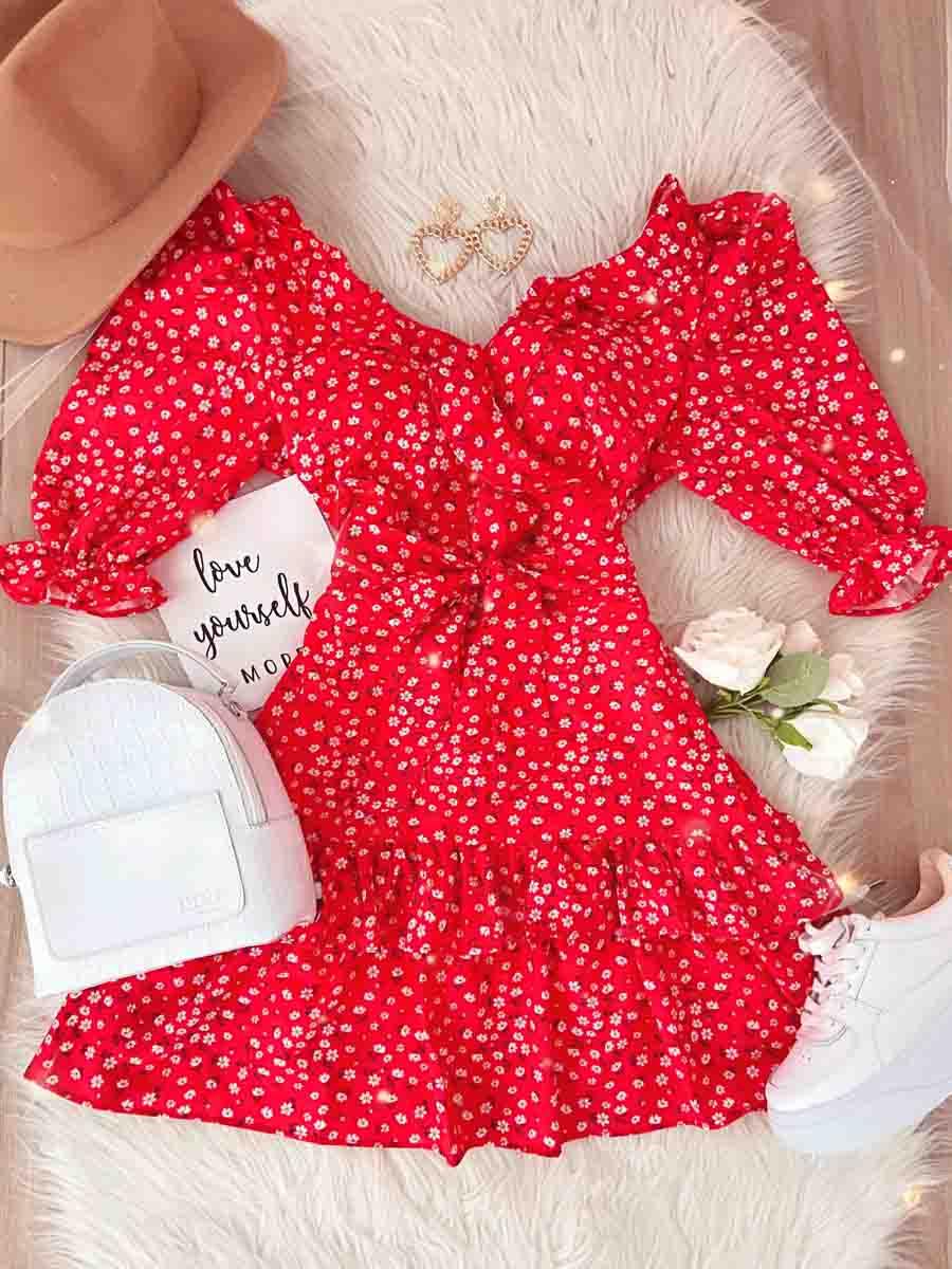 Vestido Santorini Rojo