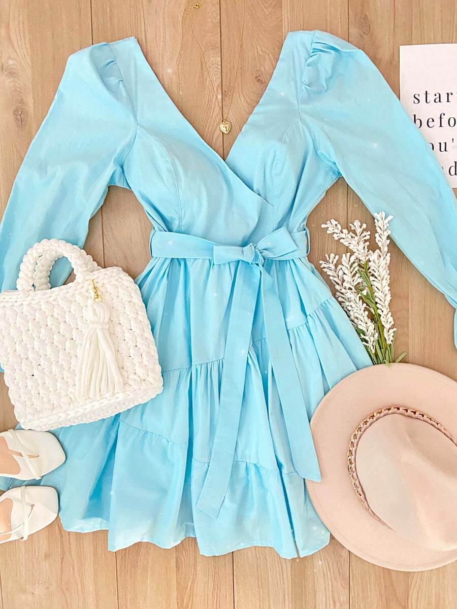 Vestido Texas Celeste