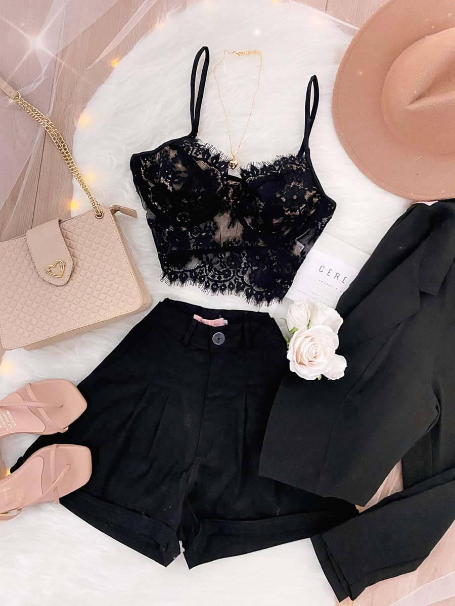 Bralette Negro