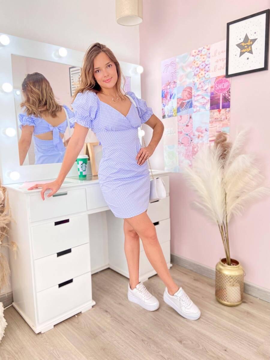 Vestido Mery Celeste