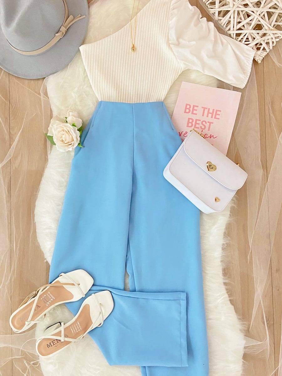 pantalon celeste