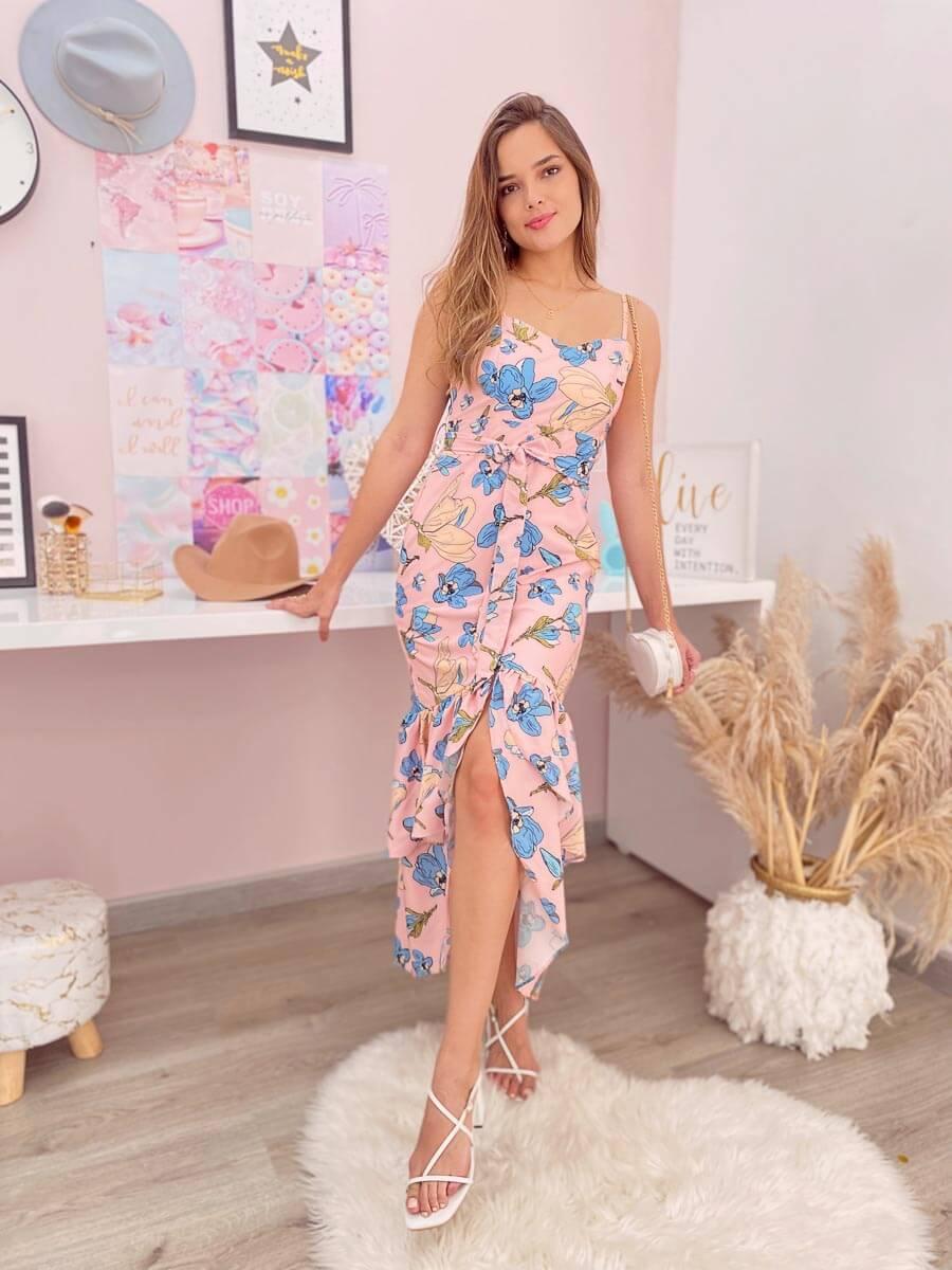 vestido sirena rosa